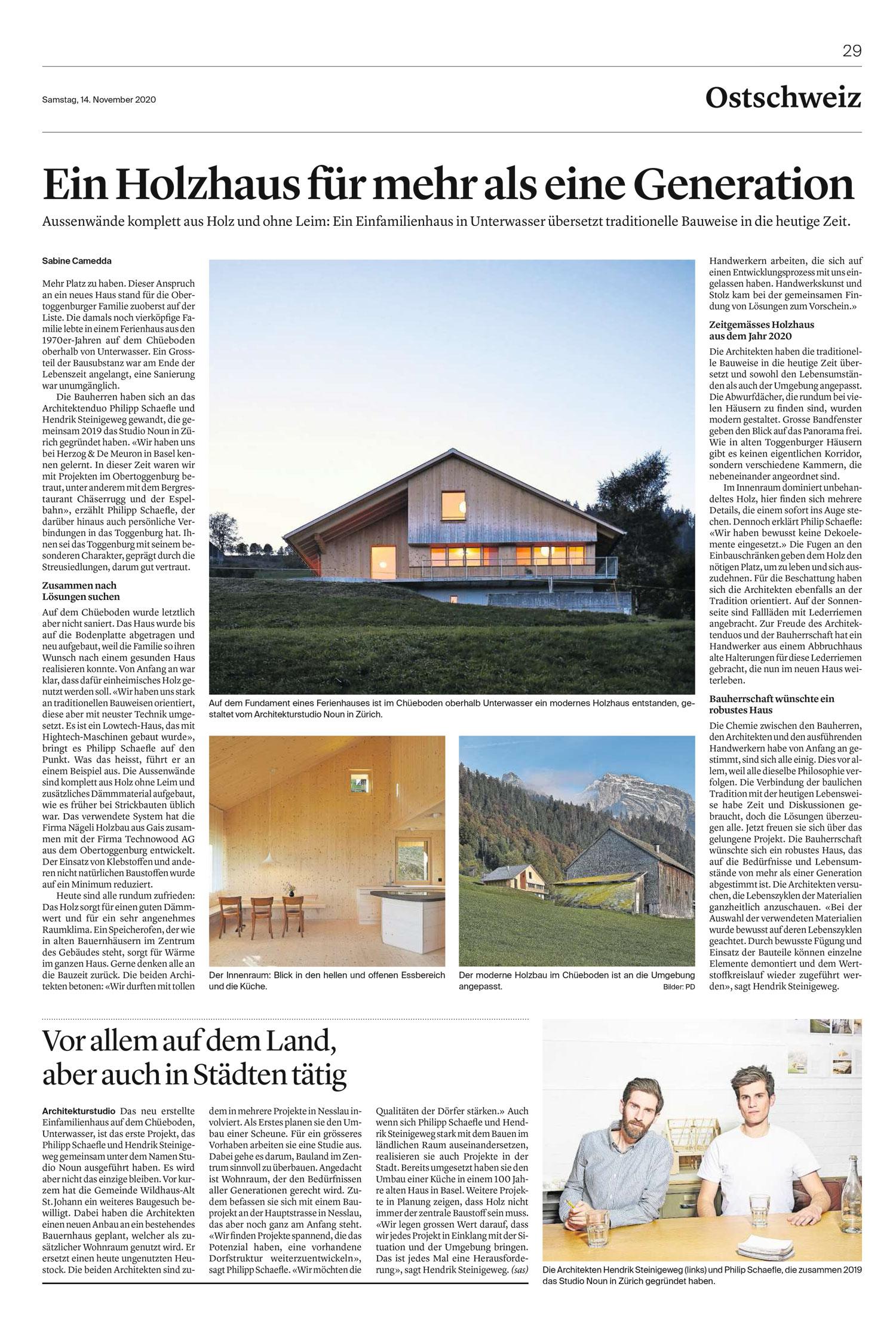 001 HOLZHAUS Tagblatt